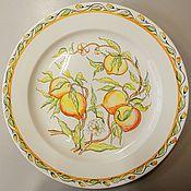 Plates handmade. Livemaster - original item Decorative plate with the painting