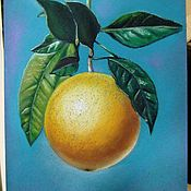 Картины и панно handmade. Livemaster - original item Painting with fruit Sunny orange pastel painting. Handmade.