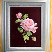 Картины ручной работы. Ярмарка Мастеров - ручная работа Бархат и роза. Handmade.
