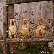 Куклы и игрушки ручной работы. Ярмарка Мастеров - ручная работа Зайцы.. Handmade.