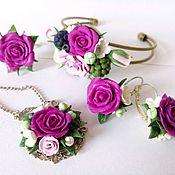 Украшения ручной работы. Ярмарка Мастеров - ручная работа Малиновые розы. Handmade.