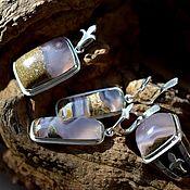 Украшения handmade. Livemaster - original item CHALCEDONY. Jewelry set. Handmade.