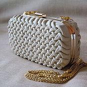 Сумки и аксессуары handmade. Livemaster - original item Oval leather clutch