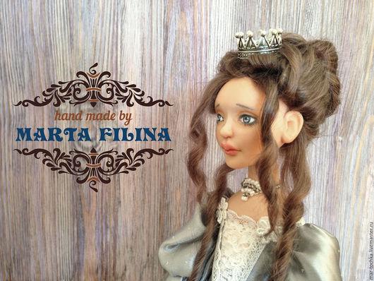 Коллекционные куклы ручной работы. Ярмарка Мастеров - ручная работа. Купить Принцесса Тихандра. Handmade. Серый, авторская работа, атлас