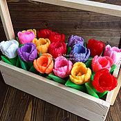 Ящик тюльпанов - сувенирное мыло