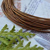 Gimp handmade. Livemaster - original item Rigmarole hard Copper 1 mm. Handmade.
