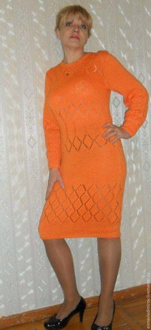 Платья ручной работы. Ярмарка Мастеров - ручная работа. Купить Платье вязаное Цвета Подсолнух. Handmade. Рыжий, оранжевый