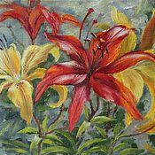 Картины и панно handmade. Livemaster - original item Lily. Oil painting 18h24 cm. Handmade.