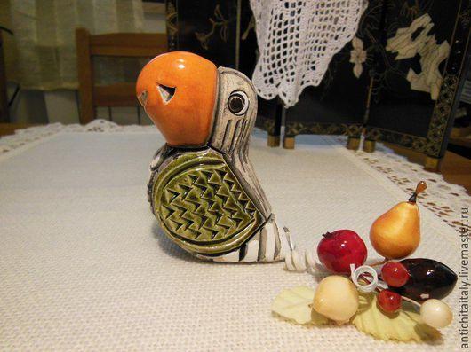 Винтажные предметы интерьера. Ярмарка Мастеров - ручная работа. Купить Попугай, статуэтка. Керамика. Handmade. Комбинированный, купить, статуэтки из керамики