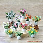 Миниатюра цветы в кукольный дом
