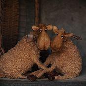 Куклы и игрушки ручной работы. Ярмарка Мастеров - ручная работа Овечки Сладкая парочка. Handmade.