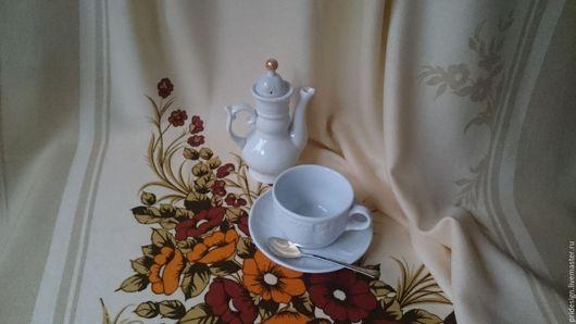 """Текстиль, ковры ручной работы. Ярмарка Мастеров - ручная работа. Купить Скатерть чайная  """"Осеннее настроение. Германия. Винтаж.. Handmade."""