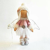 Подарки к праздникам handmade. Livemaster - original item Pink angel with glitter heart. Handmade.