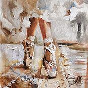 Картины и панно handmade. Livemaster - original item Oil painting of a ballerina on canvas. Handmade.