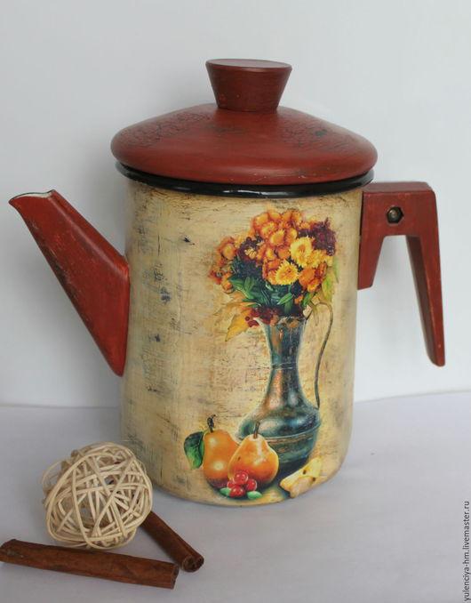 Чайники, кофейники ручной работы. Ярмарка Мастеров - ручная работа. Купить Чайник Золотая осень. Handmade. Бежевый, для кухни