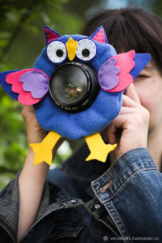 Игрушка на объектив Совуша, Мягкие игрушки, Москва,  Фото №1