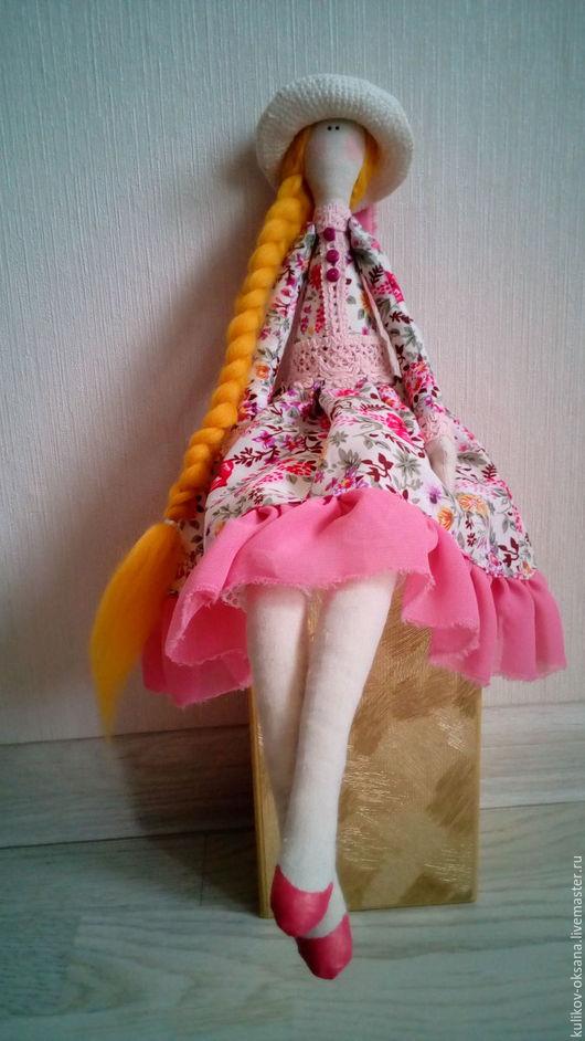 Куклы Тильды ручной работы. Ярмарка Мастеров - ручная работа. Купить кукла в шляпке. Handmade. Комбинированный, кукла интерьерная