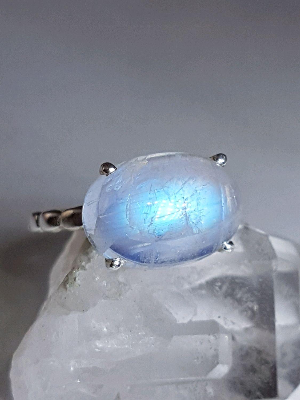 Кольца ручной работы. Ярмарка Мастеров - ручная работа. Купить Кольцо с лунным камнем. Handmade. Серебро, кольцо с камнями