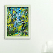 Картины ручной работы. Ярмарка Мастеров - ручная работа «В лес» Картина маслом лето пейзаж. Handmade.