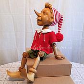 Куклы и игрушки ручной работы. Ярмарка Мастеров - ручная работа Буратино из дерева.. Handmade.