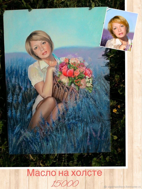 Портрет по фото ручная работа «Девушка из Прованской деревни, Картины, Москва,  Фото №1