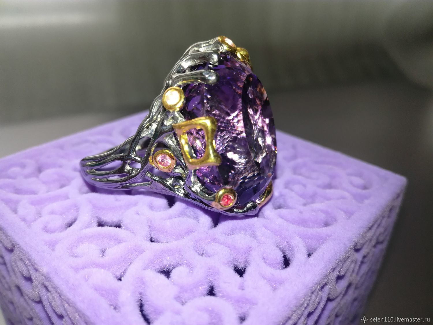 The ring of 'Crayola' with purple amethyst, Ring, Voronezh,  Фото №1