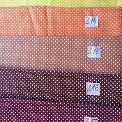 Материалы для творчества ручной работы. Ярмарка Мастеров - ручная работа Ткань Бязь в горошек. Handmade.