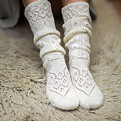 Аксессуары handmade. Livemaster - original item Knitted socks fishnet. Handmade.