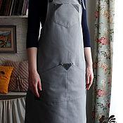 Для дома и интерьера ручной работы. Ярмарка Мастеров - ручная работа Серый фартук для художника, для бариста, для бармена FK-037. Handmade.