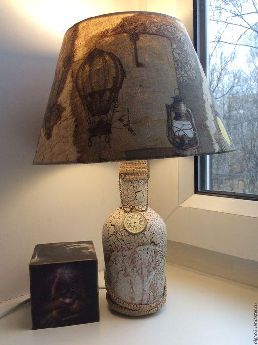 """Освещение ручной работы. Ярмарка Мастеров - ручная работа. Купить Настольная лампа """"Жак Паганель"""". Handmade. Настольная лампа, медальон"""