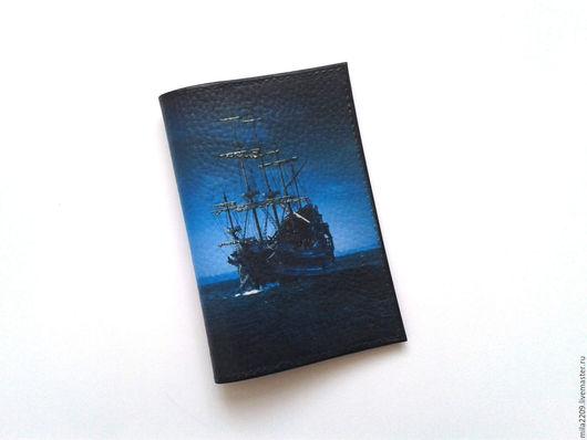 Обложки ручной работы. Ярмарка Мастеров - ручная работа. Купить Обложка на паспорт Пиратская. Обложка для паспорта. Подарок мужчине.. Handmade.