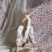 Куклы и игрушки ручной работы. Ярмарка Мастеров - ручная работа Текстильная кукла Козочка. Handmade.