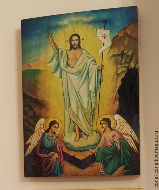 The resurrection of Christ-hand-written icon, Icons, Acre,  Фото №1