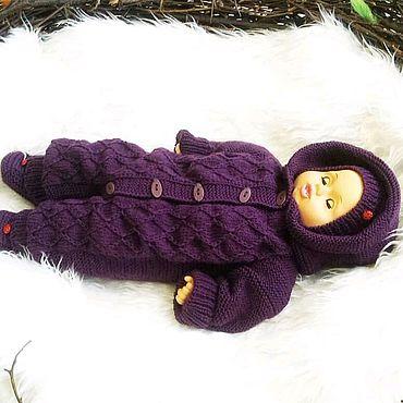 Товары для малышей ручной работы. Ярмарка Мастеров - ручная работа КОМБИНЕЗОН + шапочка и пинетки для малыша. Handmade.