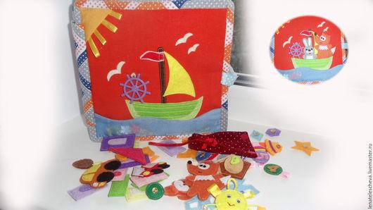 Развивающие игрушки ручной работы. Ярмарка Мастеров - ручная работа. Купить Развивающая книжка для мальчика. Handmade. Развивающие игрушки