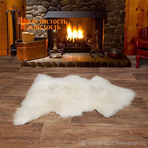 Овечья шкура белая с длинным мехом, Ковры, Нальчик,  Фото №1