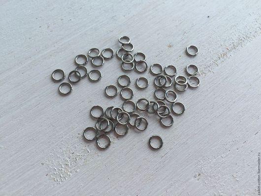 Шитье ручной работы. Ярмарка Мастеров - ручная работа. Купить Колечки металлические 5 мм., цвет серебро (10 шт.). Handmade.