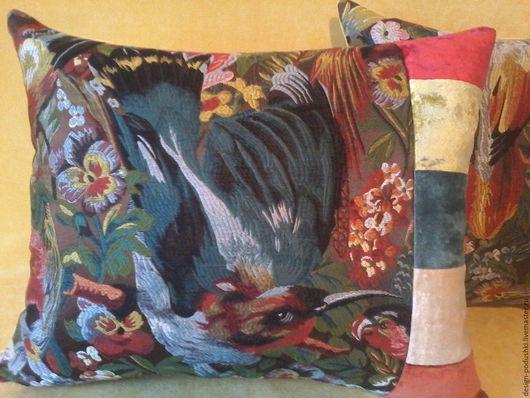 """Текстиль, ковры ручной работы. Ярмарка Мастеров - ручная работа. Купить Декоративные наволочки """"Птицы"""". Handmade. Подушка, ручная работа"""