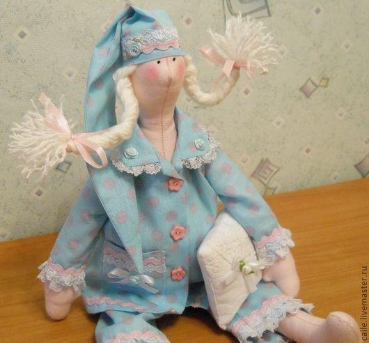 """Куклы Тильды ручной работы. Ярмарка Мастеров - ручная работа. Купить Сплюшка """"Нежные сны"""". Тильда. Handmade. Голубой"""
