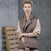 Одежда handmade. Livemaster - original item Beige Magic insulated vest. Handmade.