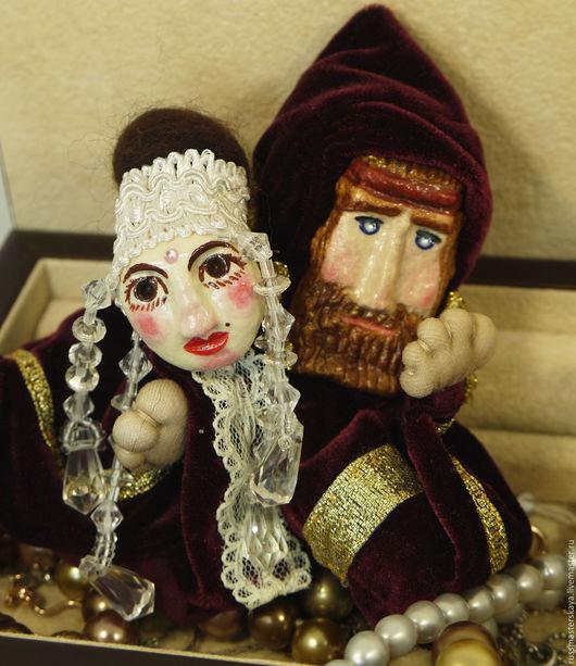 Человечки ручной работы. Ярмарка Мастеров - ручная работа. Купить ОН и ОНА. Пальчиковые куклы. Handmade. Он и она, пальчиковые куклы