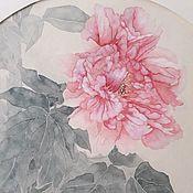 Картины и панно ручной работы. Ярмарка Мастеров - ручная работа Картина на рисовой бумаге Пион нежный. Handmade.