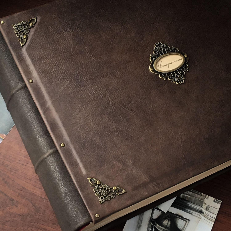 Большой кожаный фотоальбом 30х35 см, Фотоальбомы, Санкт-Петербург,  Фото №1