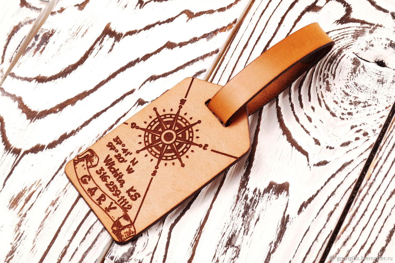 Брелок Бирка багажная с персональной гравировкой, Брелок, Одесса,  Фото №1