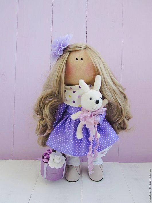 Куклы тыквоголовки ручной работы. Ярмарка Мастеров - ручная работа. Купить Куколка фиалковая. Handmade. Бирюзовый, мятный, куклы