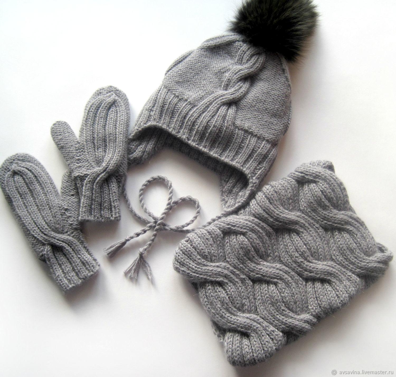 солнышко картинки шапка с шарфом вязание спицами мк своей