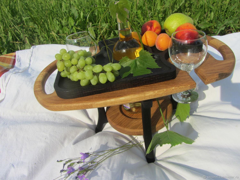 Сервировочная подставка для вина и двух бокалов, Подносы, Орел,  Фото №1