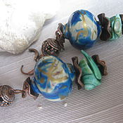 Украшения handmade. Livemaster - original item Earrings Boho ceramic