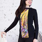 """Одежда ручной работы. Ярмарка Мастеров - ручная работа Джемпер с шелком """"Болеро"""". Handmade."""