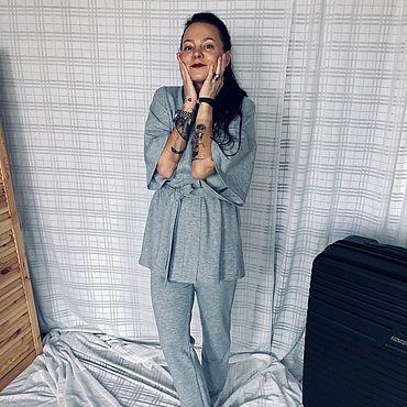 Одежда ручной работы. Ярмарка Мастеров - ручная работа Костюм/пижама из трикотажной вискозы. Handmade.